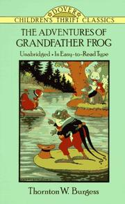 Cover of: The adventures of Grandfather Frog