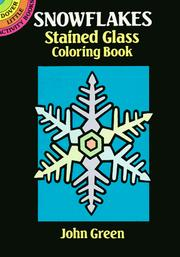 Cover of: Snowflakes Stained Glass Coloring Book