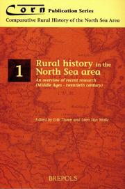 Cover of: Rural History in the North Sea Area | E. Thoen