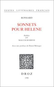 Cover of: Sonnets pour Helene