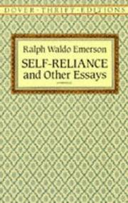 Cover of: Self Reliance and Other Essays