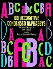 Cover of: 100 decorative condensed alphabets |