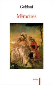 Mémoires by Goldoni