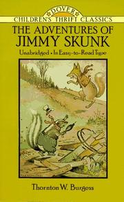 Cover of: The adventures of Jimmy Skunk