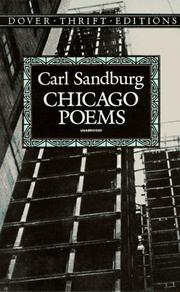 Cover of: Chicago poems
