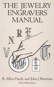 Cover of: The jewelry engravers manual