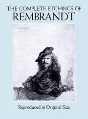 Cover of: The Complete Etchings of Rembrandt | Rembrandt, Gary Schwartz