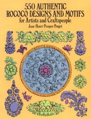 Cover of: 550 authentic rococo designs and motifs for artists and craftspeople