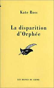 Cover of: La disparition d'Orphée