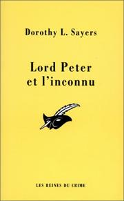 Cover of: Lord Peter et l'inconnu