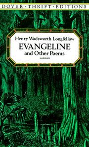 Cover of: Evangeline and other poems