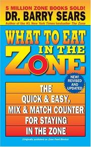 Cover of: What to Eat in the Zone