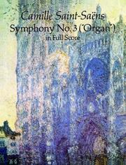 "Cover of: Symphony No. 3 (""Organ"") in Full Score"