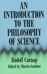 Cover of: An introduction to the philosophy of science