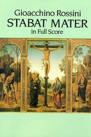 Cover of: Stabat Mater in Full Score