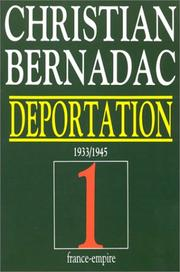 Cover of: Déportation, tome 1: 1933-1945