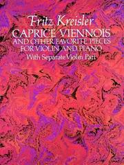 Caprice Viennois and Other Favorite Pieces for Violin and Piano