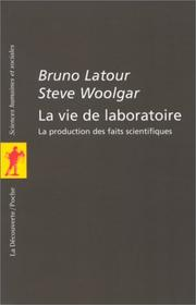 Cover of: La vie de laboratoire