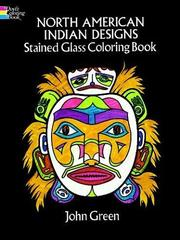 Cover of: North American Indian Designs Stained Glass Coloring Book