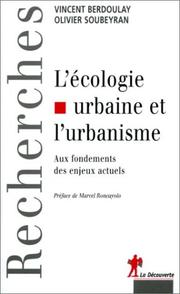 Cover of: Ecologie et Urbanisme