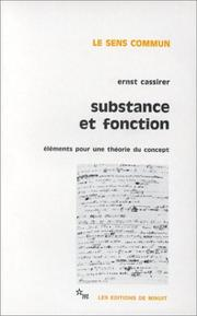 Cover of: Substance et fonction