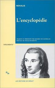 Cover of: L'encyclopédie