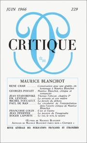 Cover of: Critique