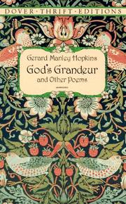 "Cover of: ""God's grandeur"" and other poems"
