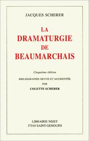 Cover of: La dramaturgie de Beaumarchais
