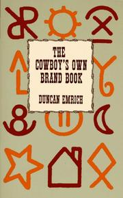 Cover of: The cowboy's own brand book