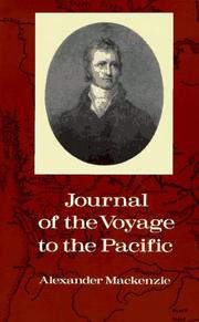 Cover of: Journal of the Voyage to the Pacific