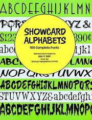 Cover of: Showcard Alphabets