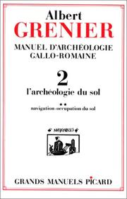 Cover of: Manuel d'archéologie gallo-romaine, tome 2