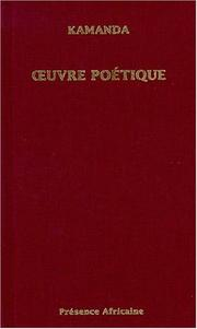 Cover of: Oeuvre poétique