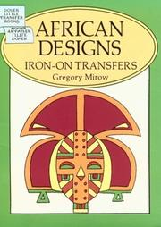 Cover of: African Designs Iron-On Transfers | Gregory Mirow