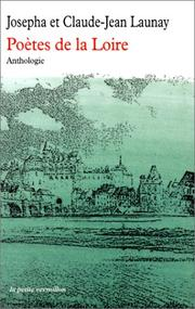 Cover of: Anthologie des poetes de la loire