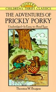 Cover of: The adventures of Prickly Porky | Thornton W. Burgess