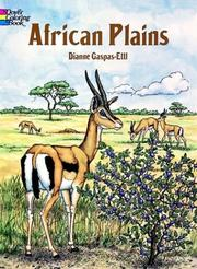 African Plains Coloring Book by Dianne Gaspas-Ettl