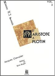 Cover of: Histoire de la pensée, volume 2. D'Aristote à Plotin