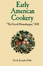 Cover of: Early American cookery