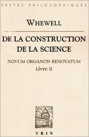 Cover of: De la construction de la science
