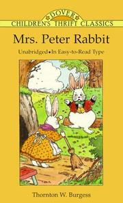 Cover of: Mrs. Peter Rabbit