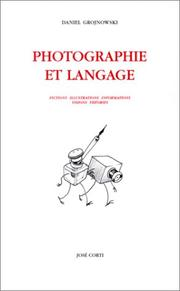 Cover of: Photographie et langage