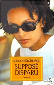 Cover of: Supposé disparu