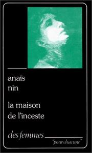 Cover of: La maison de l'inceste p