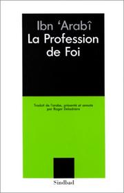 Cover of: La profession de foi