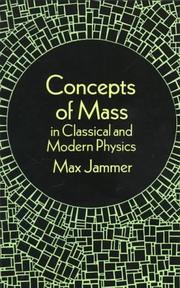 Cover of: Concepts of mass