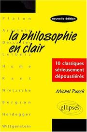 Cover of: La Philosophie en clair | Michel Puech