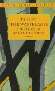 Cover of: The waste land, Prufrock, and other poems
