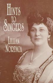 Cover of: Hints to singers